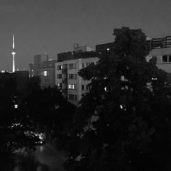 Summer evening on the balcony