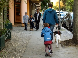 I have never seen so many fathers with their children on the streets as in the last 2 months.