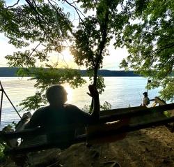 A fisherman at the Hudson