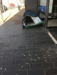 Tent in the city