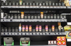 People must be cooking - empty spice shelf